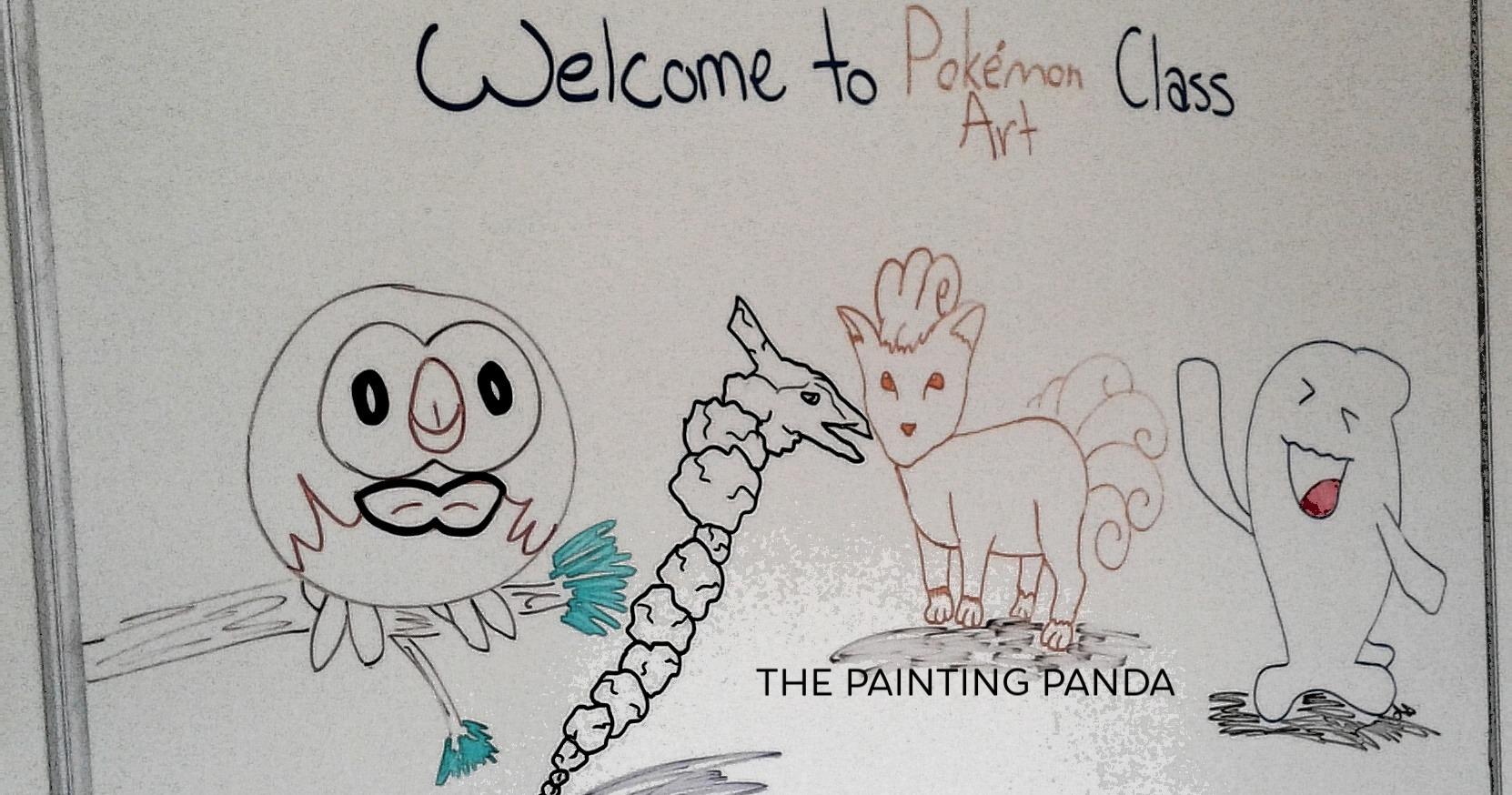 The Painting Panda Classroom Pokemon Drawing Subscription Class