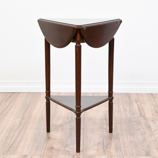 Round 2 Tiered Drop Leaf Side Table In Mahogany Loveseat Vintage
