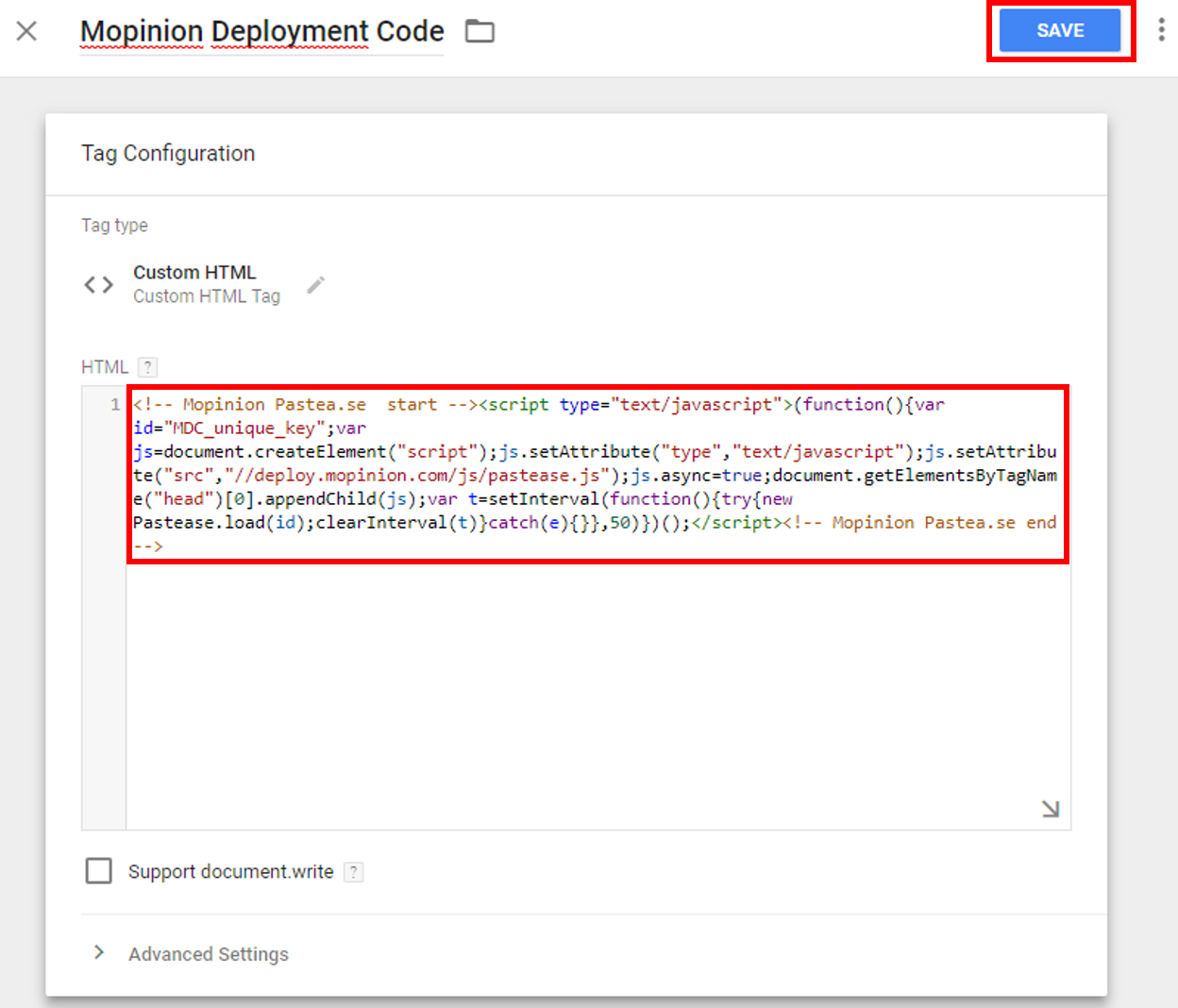 Installation Mopinion via Google Tag Manager - Mopinion