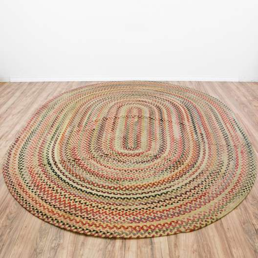 Colorful Oval Braided Rug