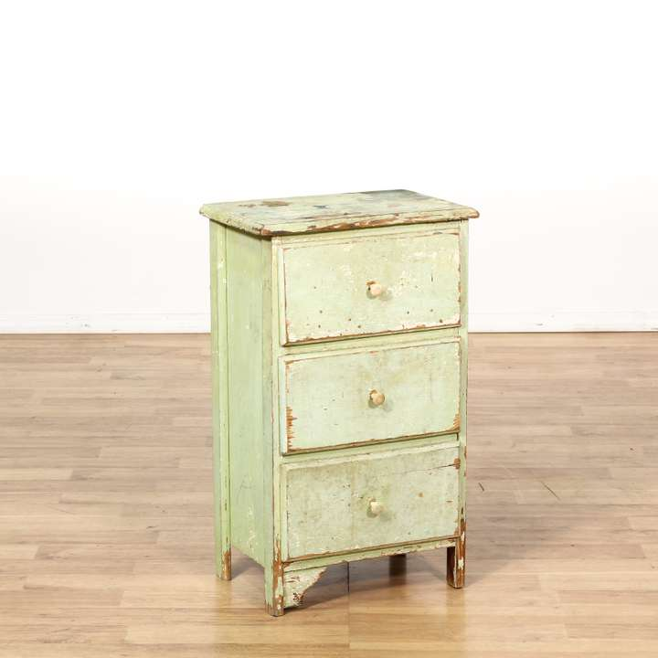 Provincial style 3 drawer commode loveseat vintage for Commode style shabby chic