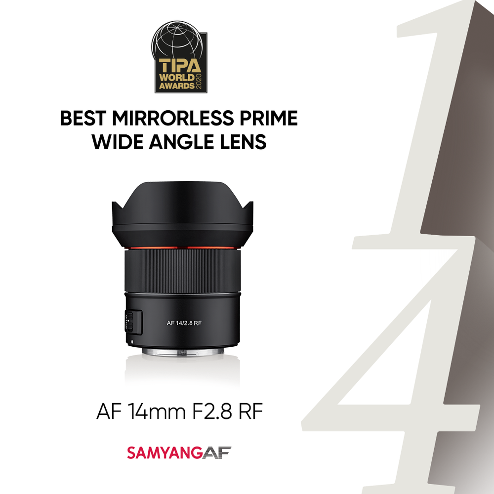 SAMYANG AF 14mm F2.8 RF z nagrodą TIPA World Awards 2020!