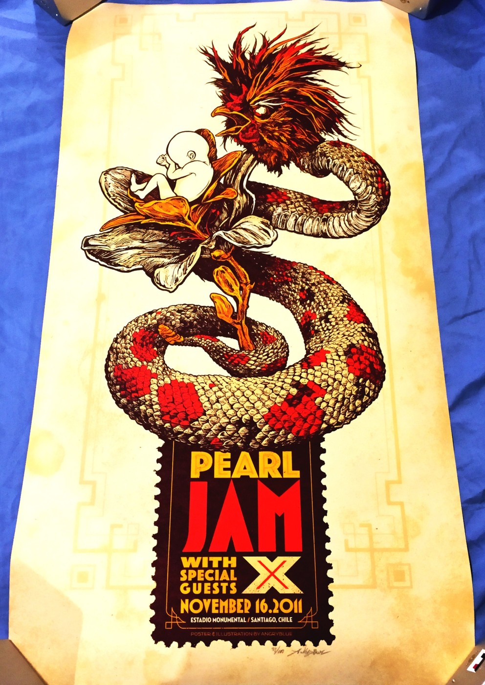 2011 PEARL JAM LIVE AT SANTIAGO, CHILE | Collectionzz