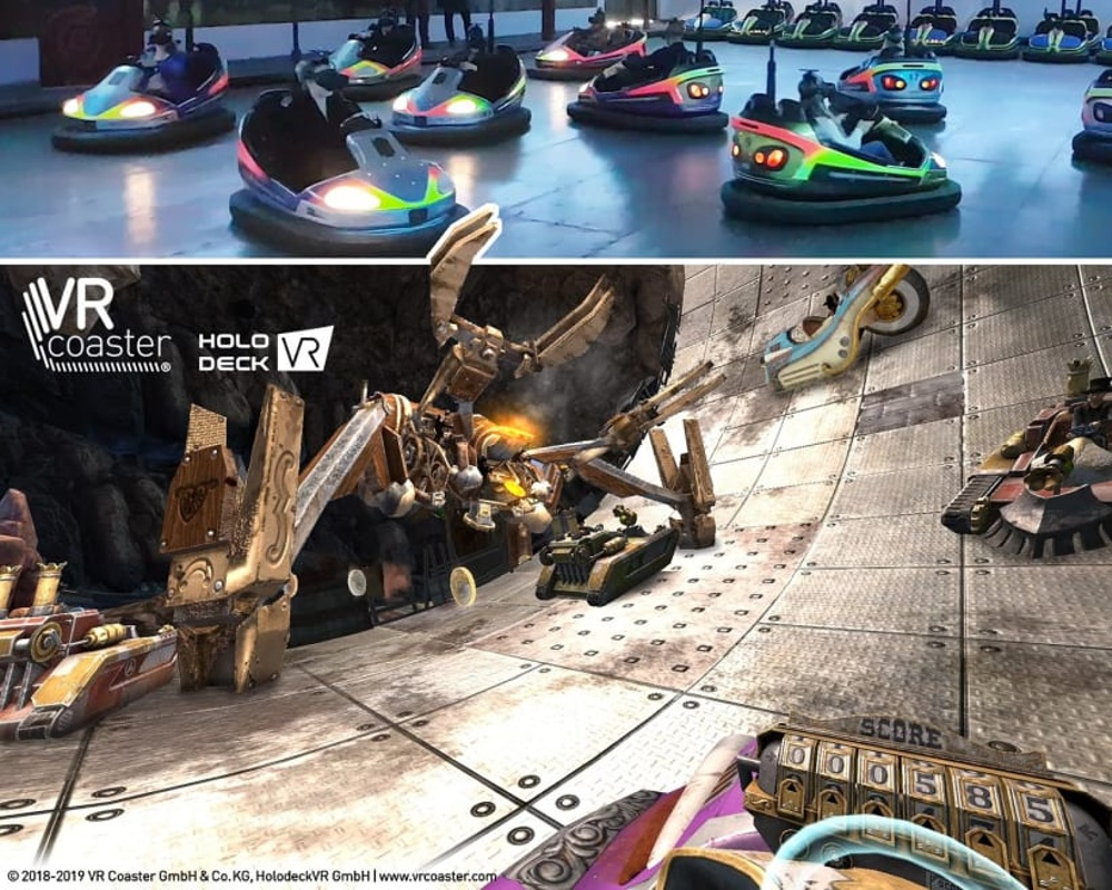 """The """"Steampunk VR Scooter"""" attraction at Erlebnispark Schloss Thurn in Germany gives visitors a unique, futuristic VR experience with all the interactive fun of traditional fairground bumper cars The """"Steampunk VR Scooter"""" attraction at Erlebni..."""