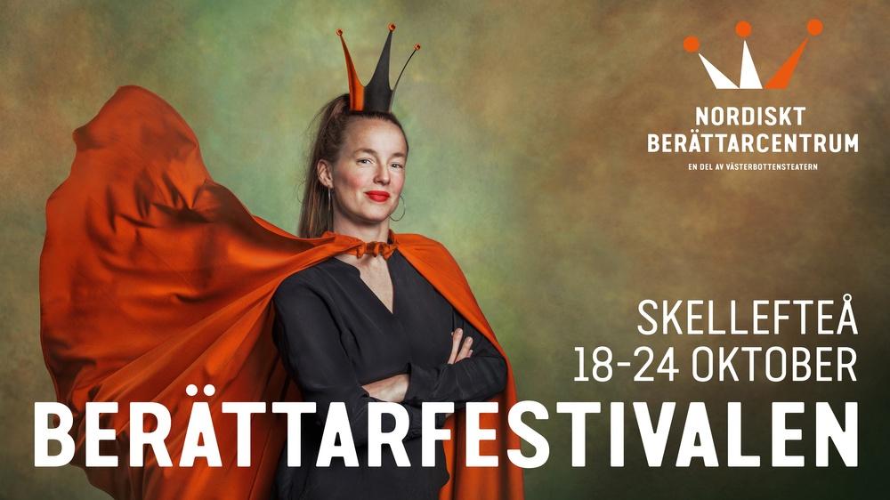Berättarfestivalen i Skellefteå 18-24 oktober 2021. Bild: LisaLove Bäckman