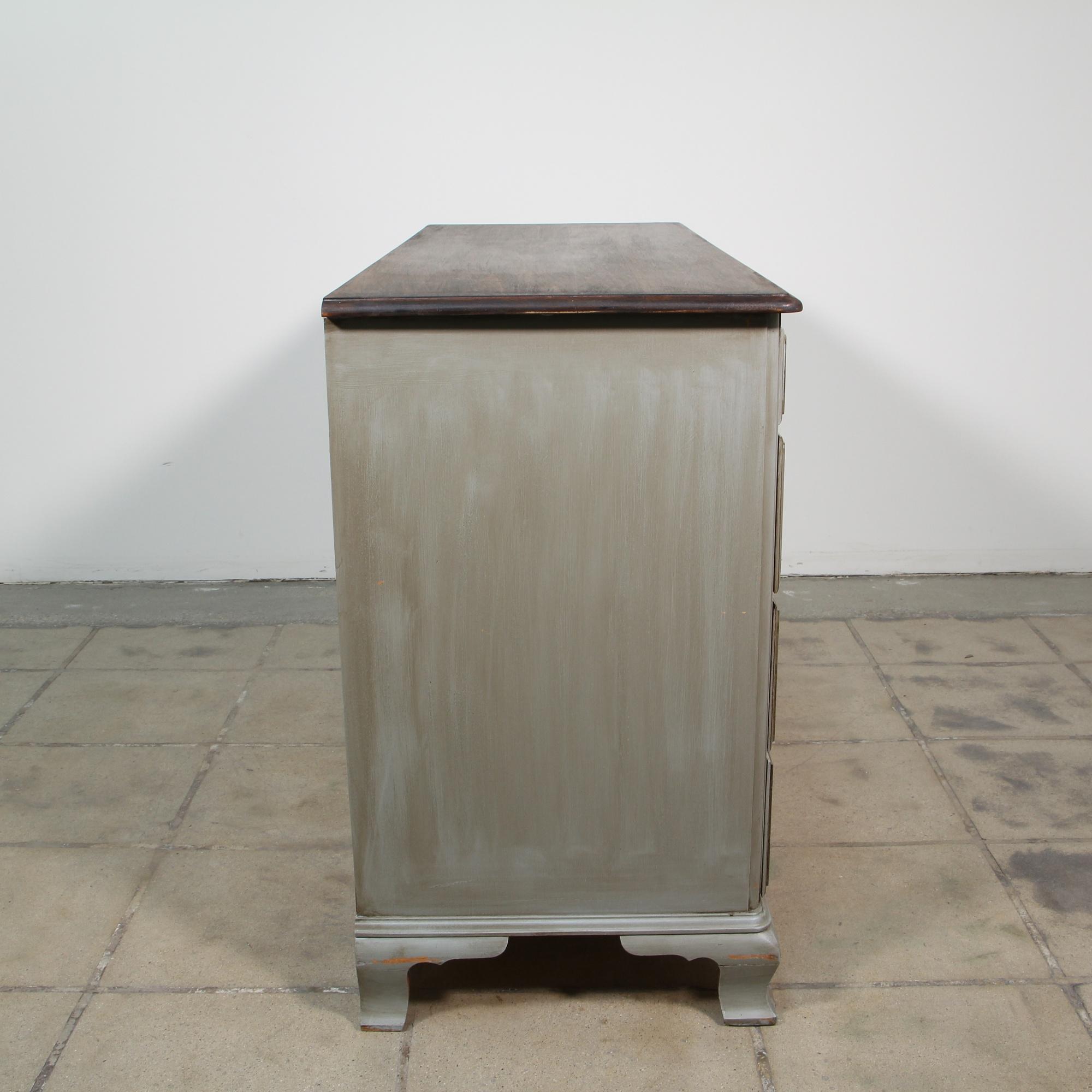 Kling gray shabby chic farmhouse dresser loveseat - Gray shabby chic furniture ...