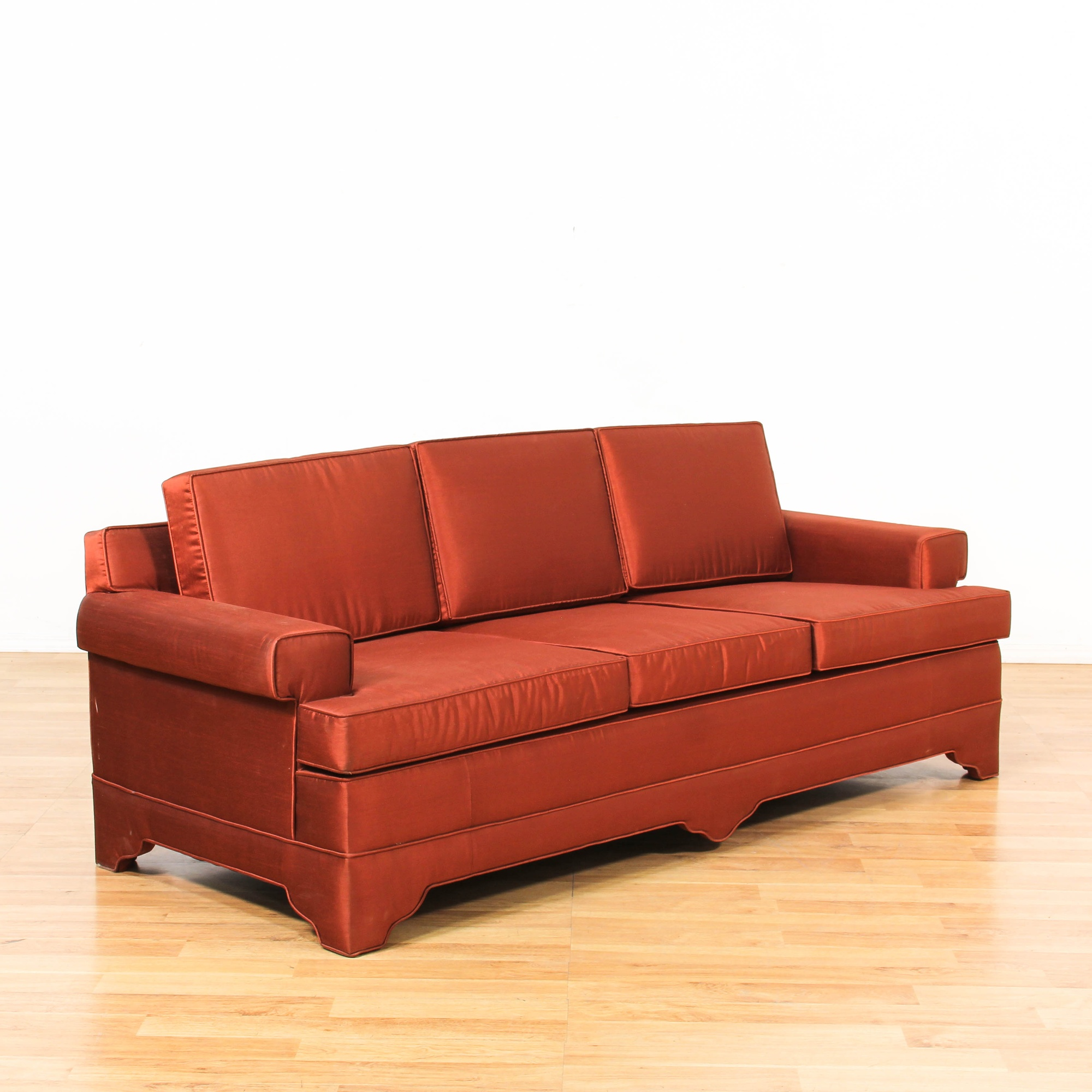 Contemporary Red Sofa   Loveseat Vintage Furniture Los Angeles