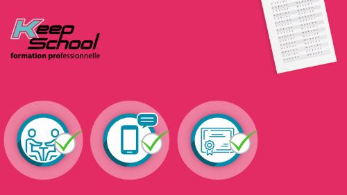 Représentation de la formation : Préparation au TEF (Test d'évaluation de français) : cours individuels à domicile (30h) et e-learning