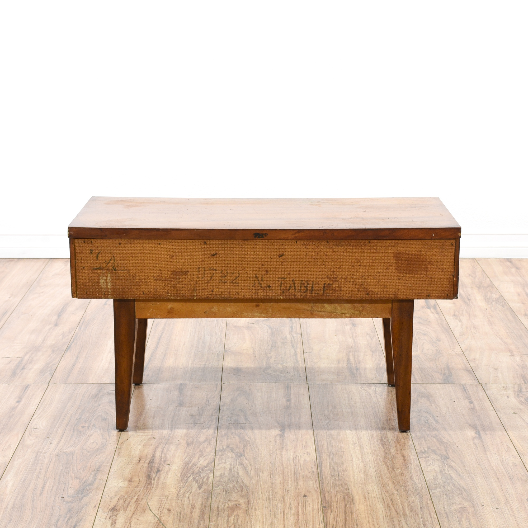 Dixie mid century modern low cherry nightstand for Mid century modern furniture san francisco