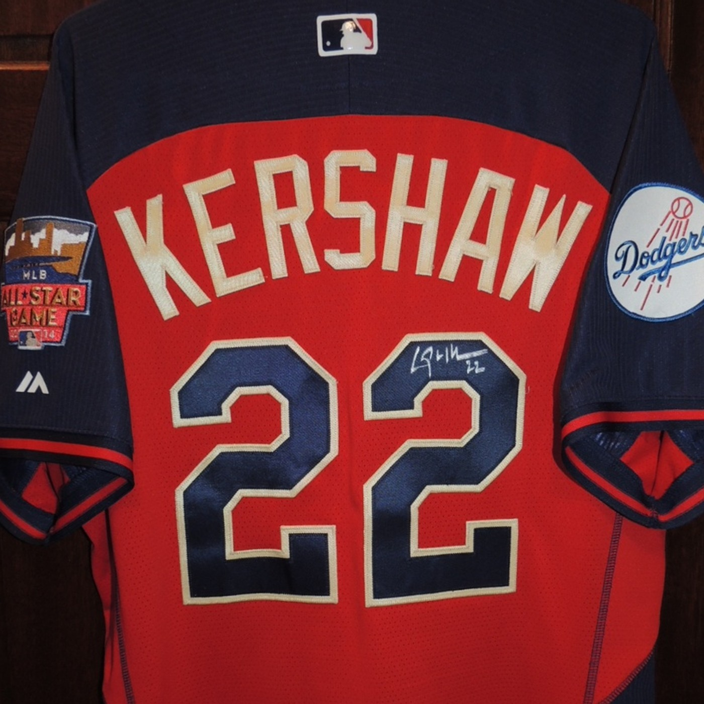527a466ec Clayton Kershaw Autographed 2014 All-Star Game NL Batting Practice Jersey