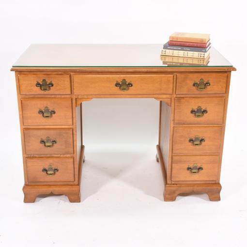 Quot Ethan Allen Quot Maple Desk W 8 Drawers Loveseat Vintage