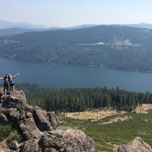 Hiking above Donner Lake