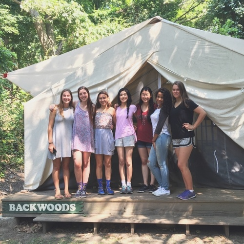 Fellow members of the Backwoods Tent Family at BELL