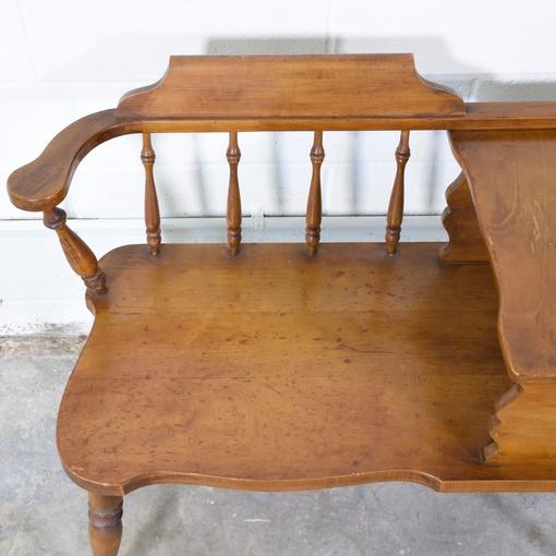 Solid Wood Gossip Bench Loveseat Vintage Furniture San Diego Los Angeles