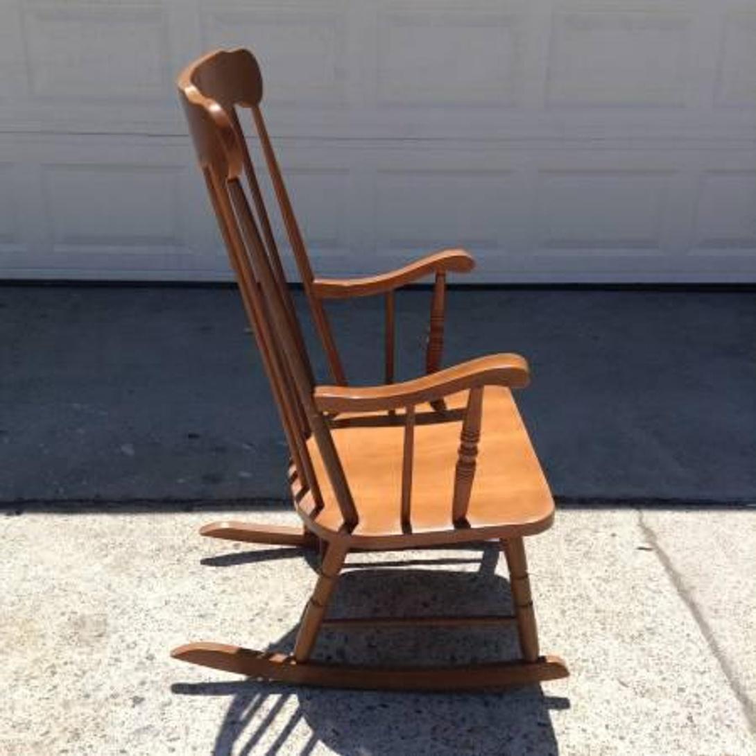 Solid Wood Spindleback Rocking Chair Loveseat Vintage Furniture San Diego Los Angeles