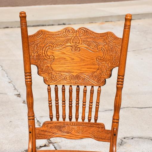 Solid Wood Spindleback Chair Loveseat Vintage Furniture San Diego Los Angeles