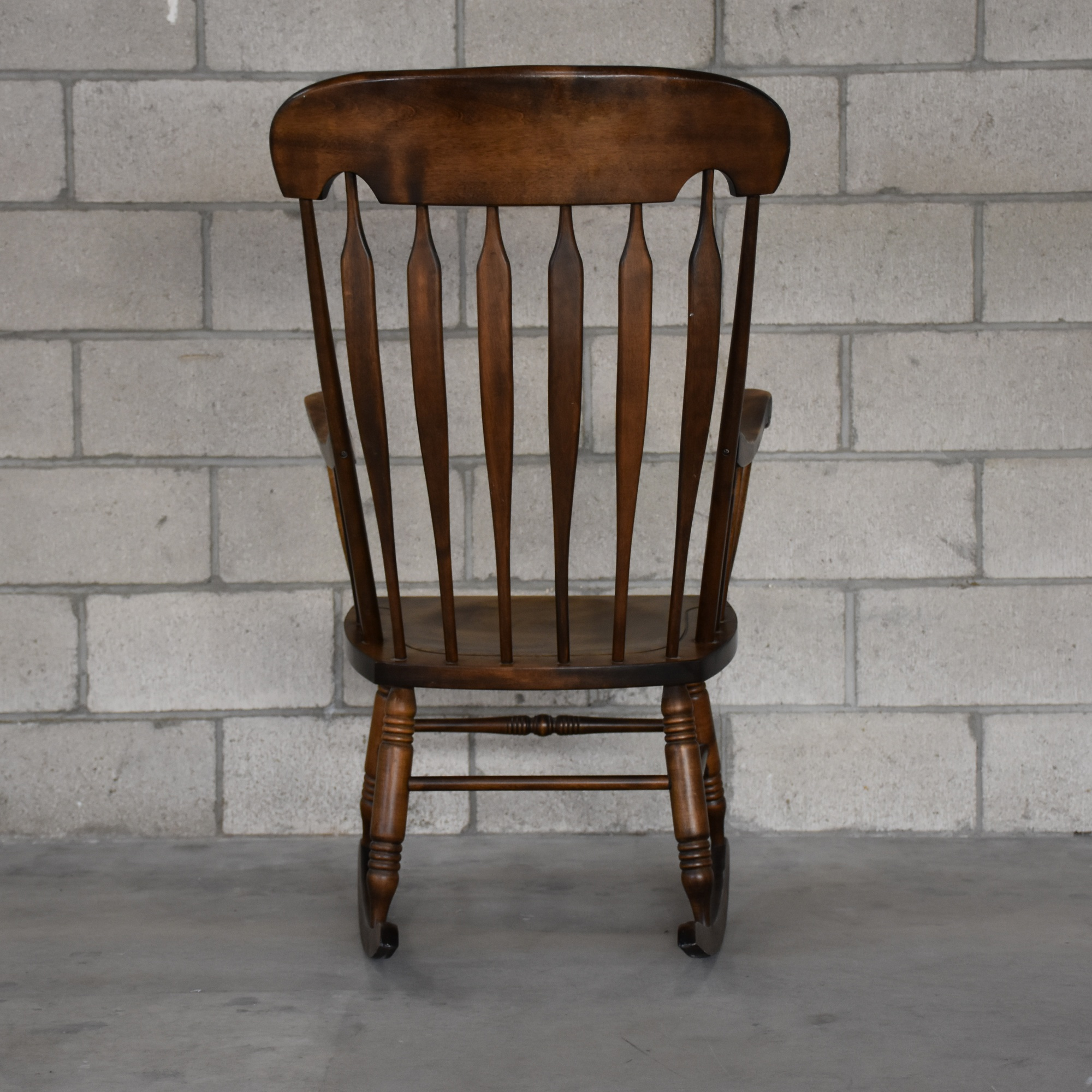 Solid Wood Rocking Chair Loveseat Vintage Furniture San