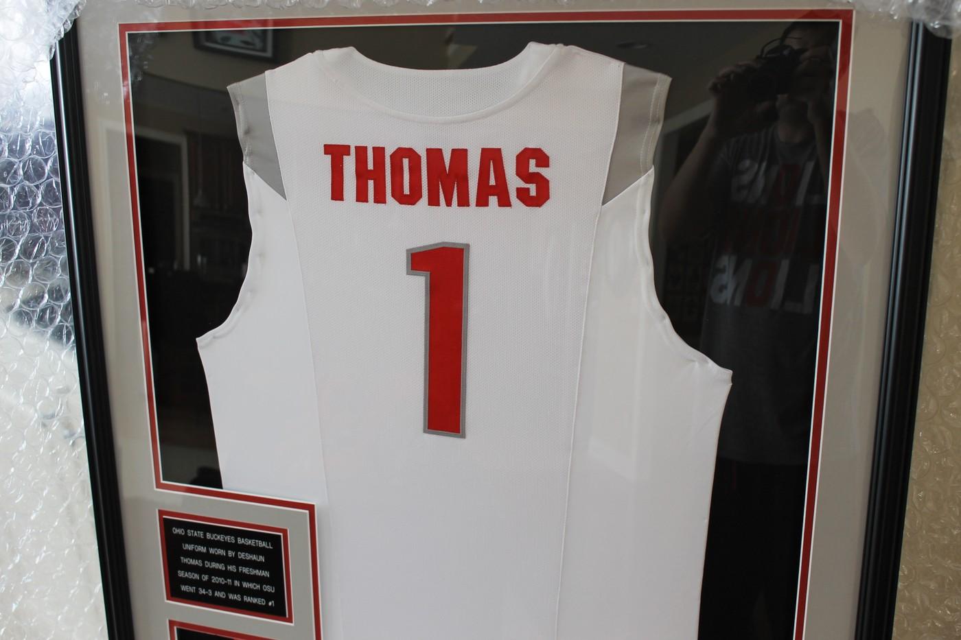 346e215fdf9 Deshaun Thomas 2010-11 Freshman Game Worn Ohio State Basketball Jersey |  Collectionzz