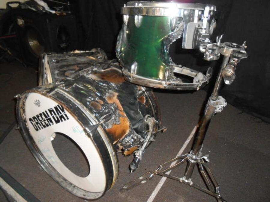 Tre Cool S Greenday Slingerland Drum Set Burnt Signed Collectionzz