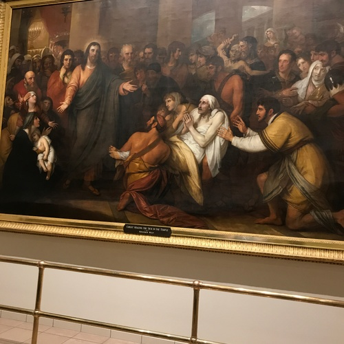 """This was a photo of """"Jesus healing the sick"""" at Pennsylvania Hopsital"""