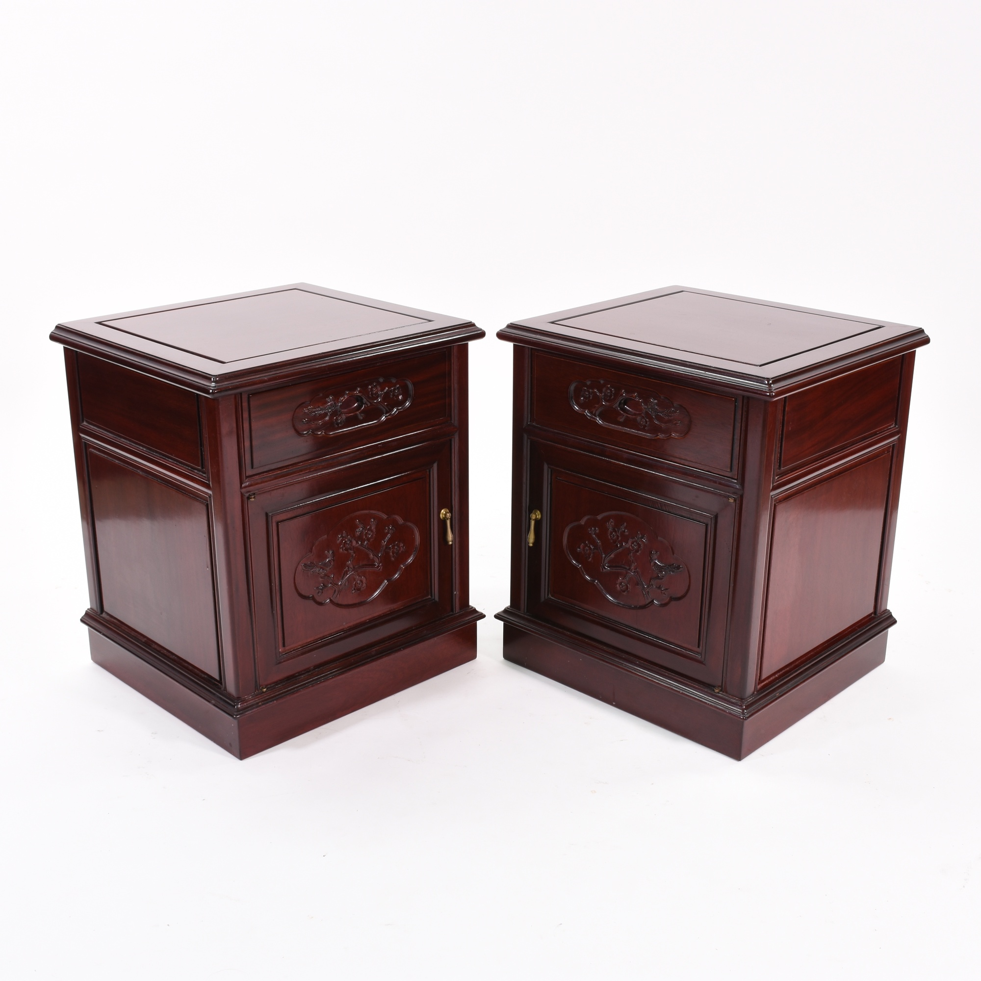 Pair of traditional japanese rosewood end tables for Traditional japanese furniture