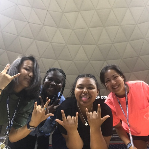 My Friends and I at Gamble Pavillion (my roommate is the first on the left)