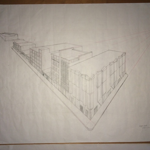 One of many technical drawings done in Drawing for Architecture