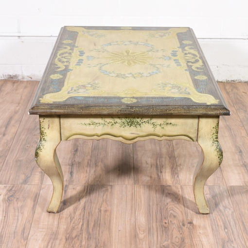 Vintage French Provincial Coffee Table: French Provincial Painted Coffee Table