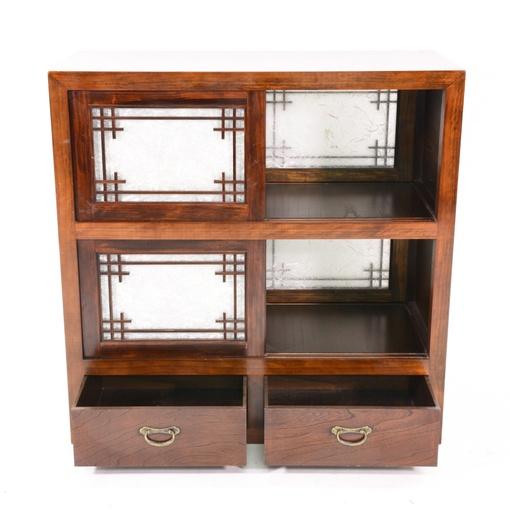 Japanese rosewood media center cabinet loveseat vintage for Japanese furniture san diego