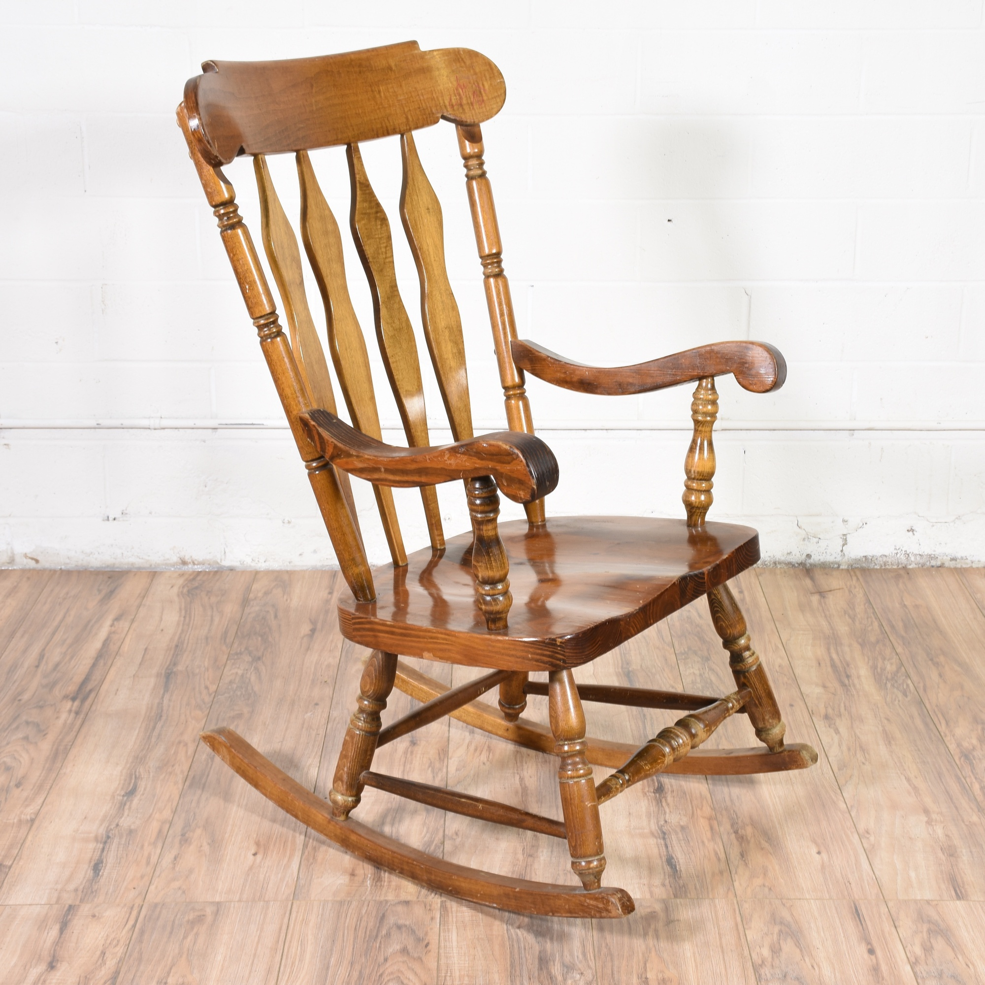 Colonial style rocking chair loveseat vintage furniture