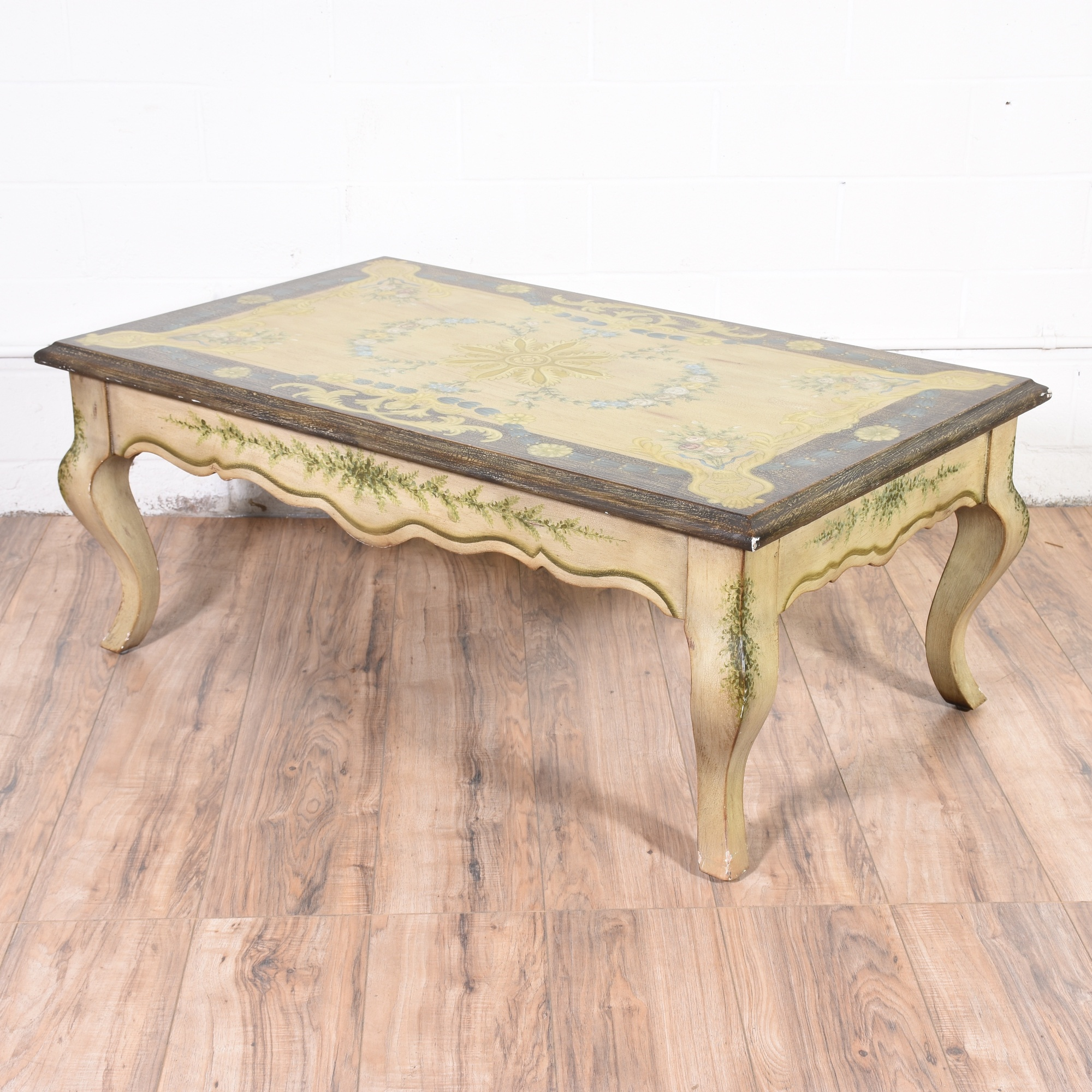 French Style Oak Coffee Table: French Provincial Painted Coffee Table