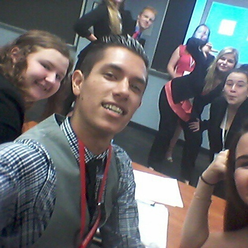 Case file presentation selfie