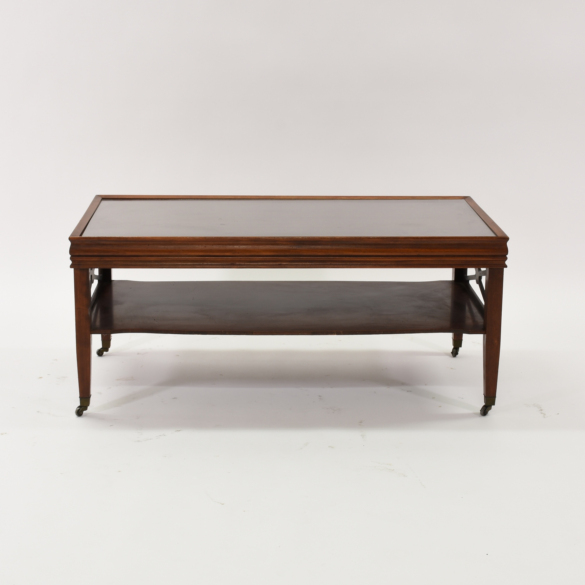Traditional Coffee Table In Cherry W Glass Top Loveseat Vintage Furniture San Diego Los Angeles