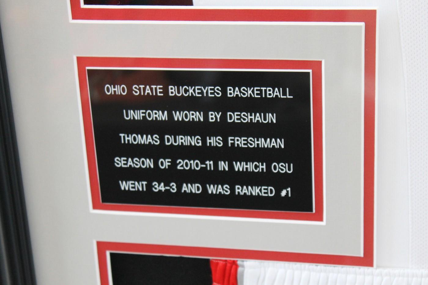 ac199235d7e Deshaun Thomas 2010-11 Freshman Game Worn Ohio State Basketball Jersey