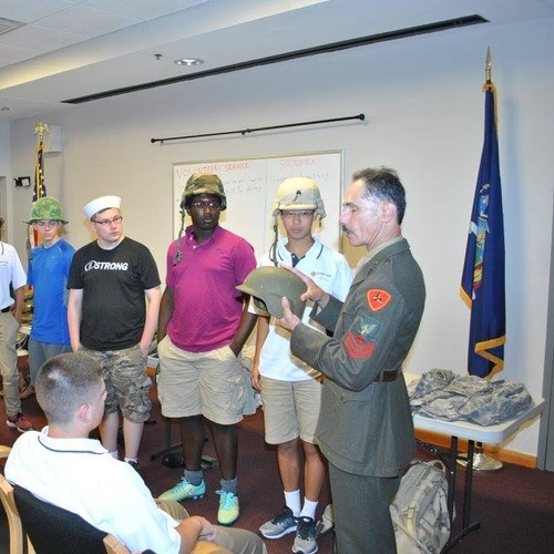 The camp group going to Purple Heart Hall of Honor