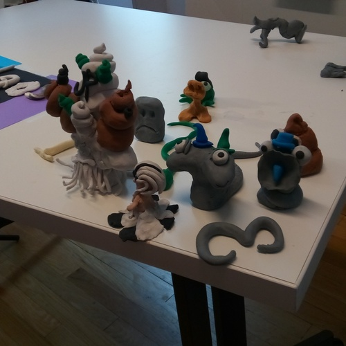 Our figures for our class 3d stop motion animation