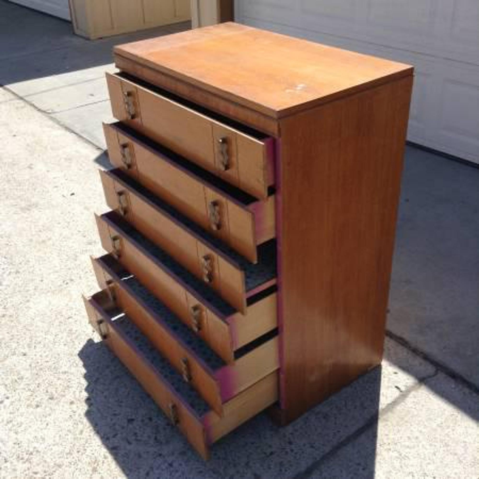 Tall Princeville Solid Wood 6 Drawer Dresser Loveseat Vintage Furniture San Diego Los Angeles