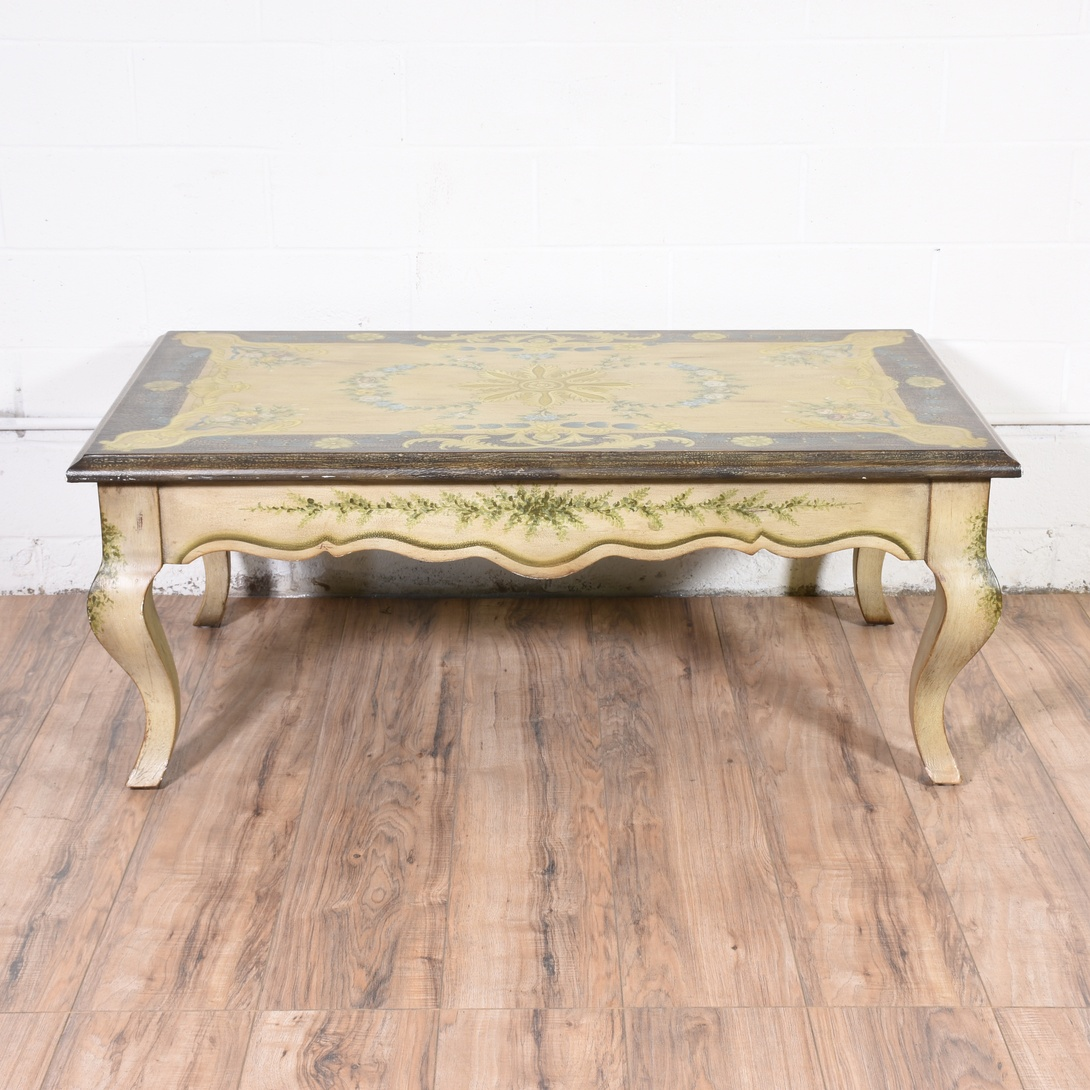 French Provincial Painted Coffee Table Loveseat Vintage Furniture San Diego Los Angeles