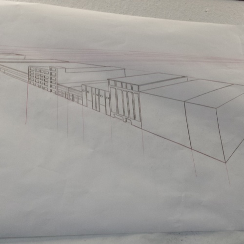 One of my final pieces for my drawing for architecture class.