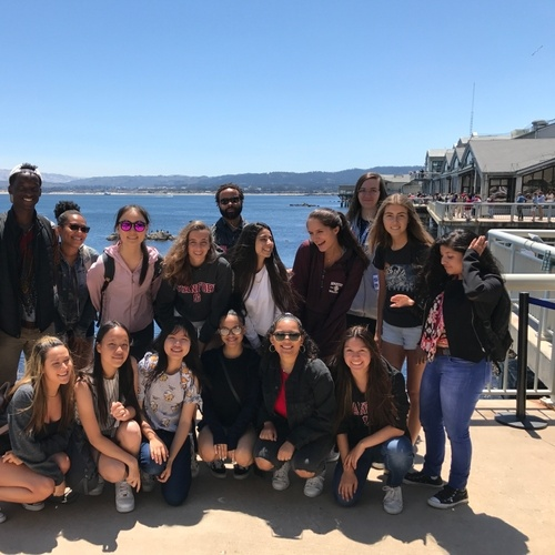 Sociology Class on a field trip to Monterey Bay Aquarium the last day of class