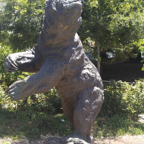 There were many different bear statues. This was one of the bigger ones that I saw.