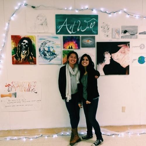 Shasta has an Art Wall :)) Zainab and I are proud parents haha