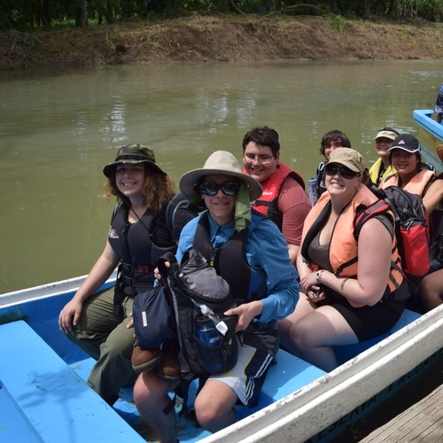 We had to get on a boat to access the Pacuare Reserve.