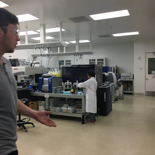Tours inside labs