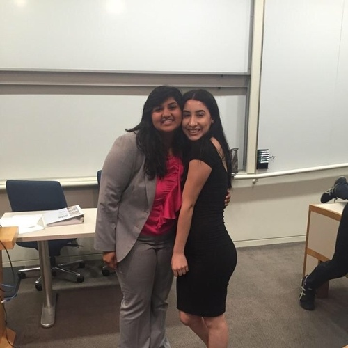 Fati and I after the Mock Trial