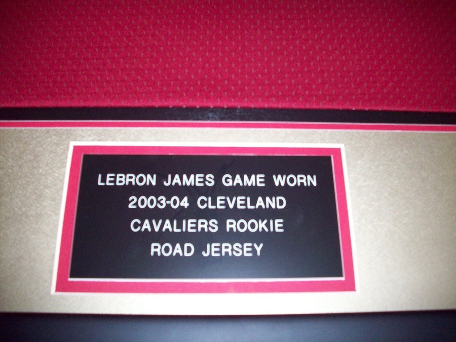 4c92e25f7a23 LEBRON JAMES CLEVELAND CAVALIERS GAME WORN ROOKIE JERSEY FROM THE 2003-04  NBA SEASON