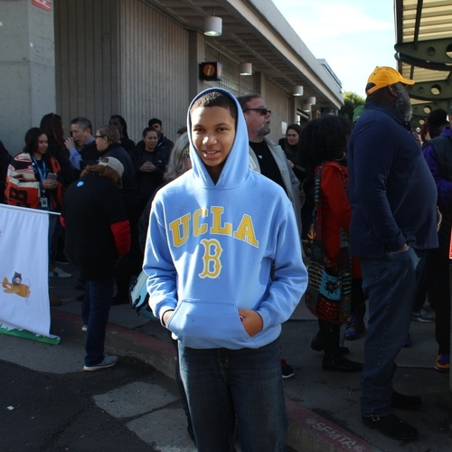 This is me participating in the MLK march in San Francisco.
