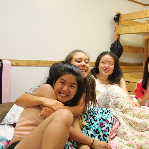 Last sleepover with one of our roomie