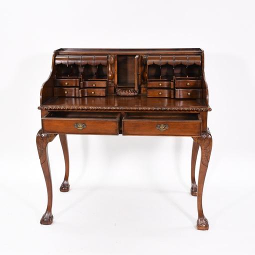 Solid Wood Carved Vintage Writing Desk