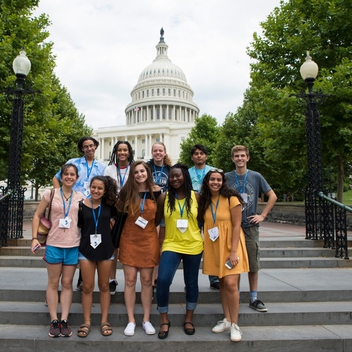 My TA group visits the Capitol Hill.